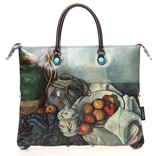 GABS Borsa G3 Taglia L Capsule Arte Print Paul Cezanne in Saffiano+Dollaro