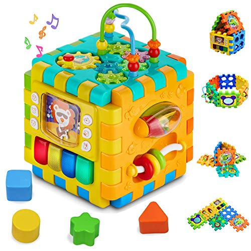 51qTR+WXSsL - The 7 Best Activity Cubes for Toddlers to Boost Their Intellectual Development