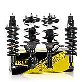 OREDY Shocks and Struts Full Set 4Pcs Complete Struts Assembly Coil Spring Kit 172186 172185 171340L 171340R Front Struts Rear Shocks Struts Compatible with Civic 2003 2004 2005