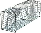 HomGarden Live Animal Trap Catch Release Humane Rodent Cage for Rabbit, Groundhog, Squirrel, Raccoon, Mole, Gopher, Chicken, Opossum & Chipmunks Nuisance Rodents 24inch