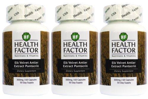 Elk Velvet Antler Extract for Dogs - Joint Supplement, Bone Support (3 Bottles, 180 Capsules)