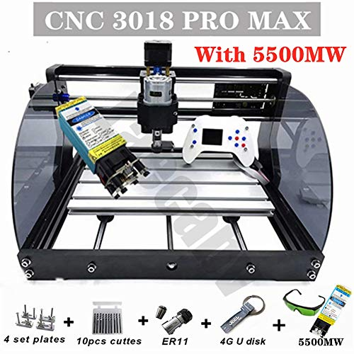 CNC 3018 Pro MAX GRBL Steuerung 3 Axis Recorder PCB Fräsmaschine mit Protected Board DIY CNC Holzschnitzerei Fräsgraviermaschine Holz Router Engraving Maschine Offline Controller