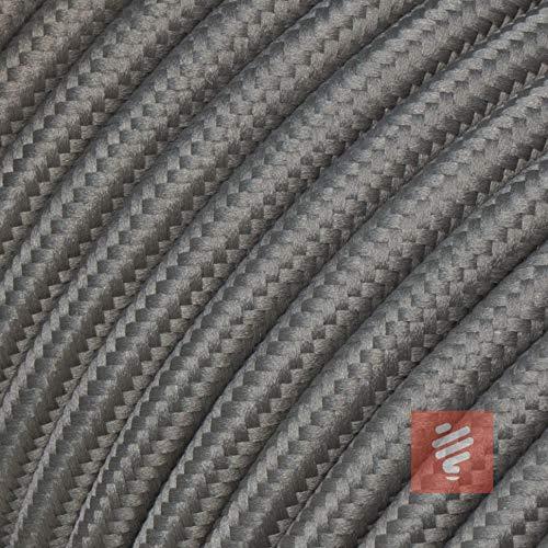 Textilkabel für Lampe, Stoffkabel, 3-adrig (3x0,75mm²), Grau - 3 Meter