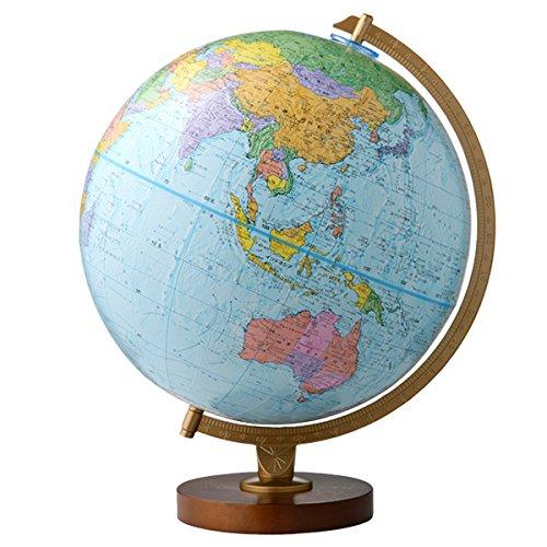 リプルーグル地球儀 エンデバー型 日本語版 30573 球径30cm 行政型 山岳起伏加工 照明なし ワールド・ネイ...