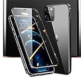 JCGOOD iPhone 12 ケース iPhone 12 Pro ケース 360°全面保護 前後 透明 両面 強化 ガラス マ……