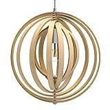 Tomons Lampe de Plafond LED en Bois Plafonnier Lustre du Style Moderne...