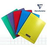 Clairefontaine 18343C 17x 22cm Seyes Rayado grapas Bound Notebook con 96hojas–rojo