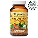 MegaFood, Kids One Daily, Daily Multivitamin and Mineral Dietary Supplement with Vitamins, C, D and Folate, Glyphosate Free, Non-GMO, Vegetarian, 60 Tablets (60 Servings)