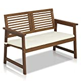Furinno FG161167 Tioman Hardwood Outdoor Bench in Teak Oil, Natural