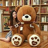 Xiaotian Très Grand Ours câlin 2 mètres Panda en Peluche Fille poupée poupée Mignonne Gros Ours en Peluche à Envoyer Amie,A,120cm