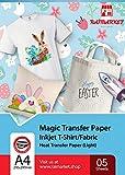Repassez sur du papier transfert pour tissu léger de Raimarket | 5 feuilles |...