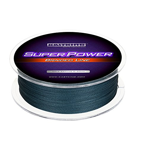 KastKing Superpower Braided Fishing Line,Low-Vis Gray,40 LB,327 Yds