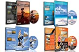 4 Disc Set Combo Pack - Beach Collection Virtual Run and Walking DVD Box Set for Treadmill, Elliptical Trainers and Spin Bikes Workouts