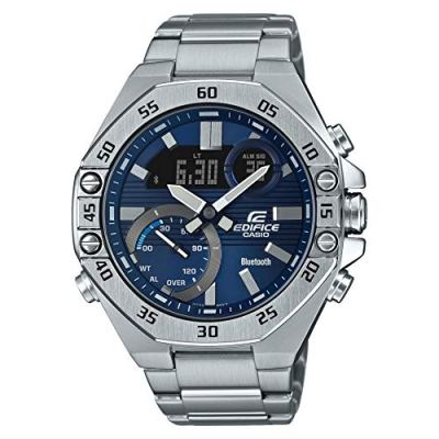 Casio Edifice Full-Time Smartphone Link Chronograph Stainless Steel Watch ECB10D-2A