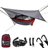 Easthills Outdoors Jungle Explorer Hamac de camping portable double avec moustiquaire amovible et sangles...