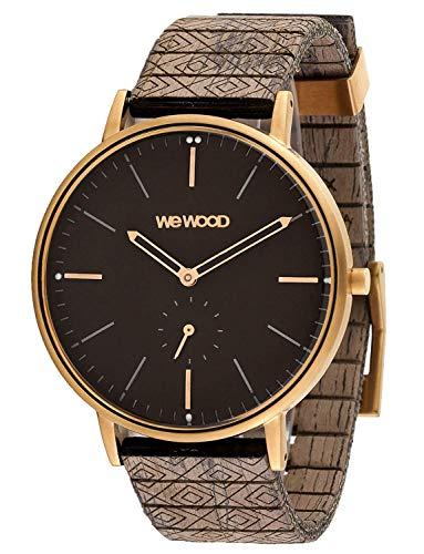 WEWOOD Herren Analog Quarz Uhr mit Holz Armband WW63004
