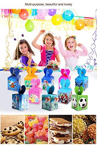 Image 6 - Qemsele boîtes de fête Sac de fête pour Enfant, 12 Pcs Repas boîtes en Carton uni Garçons Filles pour Thème Décorations Réutilisable Sac Cadeau de Fête Anniversaire Noël Sacs de fête (LOL)