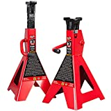 BIG RED T43006 Torin Steel Jack Stands (Fits: SUVs and Extended Height Trucks): 3 Ton (6,000 lb)...