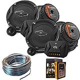 J-B-L GTO609C Premium 6.5-Inch Component Speaker System + GTO509C Premium 5.25-Inch Component Speaker System + Speaker Wire