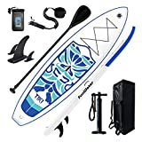 FunWater Inflatable 10'6×33'×6' Ultra-Light (17.6lbs) SUP for All Skill Levels Everything Included with Stand Up Paddle Board, Adj Floating Paddles, Pump, ISUP Travel Backpack, Leash,Waterproof Bag,