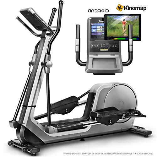 Sportstech LCX800 Crosstrainer – Deutsche Qualitätsmarke - Video Events & Multiplayer APP & Android-Multifunktionskonsole, 24Kg Schwungmasse, Pulsgurt-Kompatibel, 12 Trainingsprogramme + HRC Modus