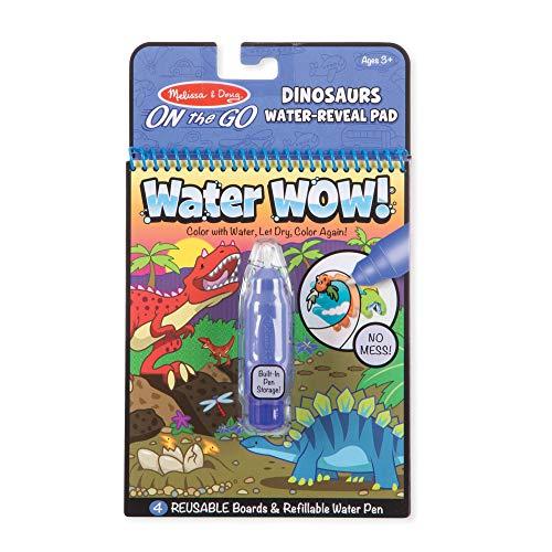 Melissa & Doug - Water Wow! Jogo de Colorir com Água: Dinossauros, 3+ Anos, Multicolorido, 9315