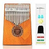 Kalimba, KUDOUT 17 Touches Pour le Pouce Piano Acajou Professionnel Marimba Instrument Avec Marteau d'accordage et 7 Accessoires Pour les Amateurs de Musique Débutants