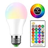 HaavPoois Ampoule à Changement de Couleur E27 RGBW Ampoule à LED...