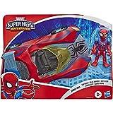 Marvel Super Hero Adventures - Spider-Man Web Racer (Playskool Heroes Super Hero Adventures, personaggio da 12,5 cm con veicolo)