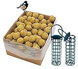 dobar Lot de 100 Boules de Graisse avec Filet - 2 Supports de...