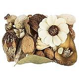 Potpourri   Glamour   Set di decorazioni   350 g   Diversi fiori e elementi decorativi   in tonalità naturali