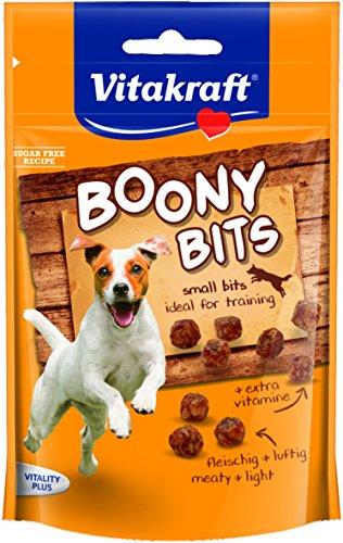 Vitakraft Hundesnack, Snack-Häppchen, Idealer Trainingssnack, Boony Bits, 6er Pack (6 x 55g)