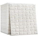 10PCS Papier Imitation Brique Blanc Papier Peint Enfants Autocollant Stéréoscopique De Pierre De Papier Peint De La Brique 3D 60x60cm Pour La Décoration De Sofa De Murs De TV Imperméable