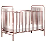 Babyletto Jubilee 3-in-1 Convertible Metal Crib in Pink Chrome