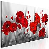 decomonkey   Impression sur Toile intissée Fleurs Coquelicots Rouge 150x50 cm  ...