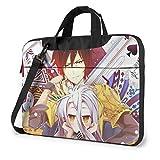 XCNGG No Game No Life Anime Laptop Hombro Messenger Bag Tablet Computadora Almacenamiento Mochila Bolso 14 Pulgadas