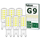 Ampoules LED G9, 5W Equivalent 50W Halogène Lampe, Blanc Froid 6000K 500LM...