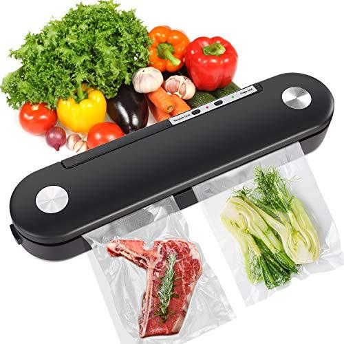 Macchina per sottovuoto 2 in 1 automatica per sigillare alimenti secchi e umidi, con indicatore LED, facile da pulire (versione in lingua italiana non garantita)