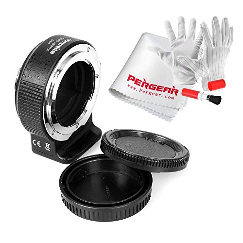 Commlite Nikon F レンズto Sony E-マウント オートフォーカス電子レンズアダプターカメラ用電子リング 絞り調整/ EXIFパラメータ送信/AF/IS機能 Pergearクリーンキット付き