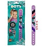 LEGO- Dots Kit Braccialetto, Scintillante con Fascia Regolabile e Decorazioni per Bambine + 6 Anni, con 32 Applicazioni tra Cui Teste di Unicorno e Cieli Stellati, Colore Viola, 41902