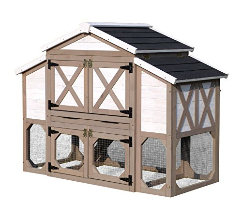 zoovilla Country Style Chicken Coop Metal Nest Box...