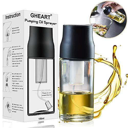GHEART Olio Spruzzatore, Oil Sprayer Dispenser 150ML Nebulizzatore Olio Aceto Spruzzatore Cucina in...