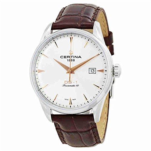 Certina DS-1 Herren-Armbanduhr 40mm Armband Leder Automatik C029.807.16.031.01