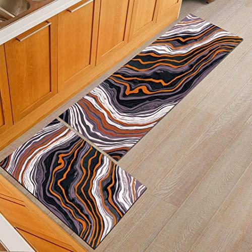 Sabull Anti-Slip Kitchen Mat Modern Bath Carpet Entrance Doormat Absorbent Rugs for Bedroom Prayer Pad