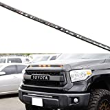 iJDMTOY 5-Bar/Section Amber Yellow Raptor Style 15-LED Hood Bulge Behind Grille Light Kit Compatible With 2014-2020 Toyota Tundra