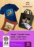 Repassez sur du papier transfert pour tissu foncé (Magic Paper) de Raimarket |...