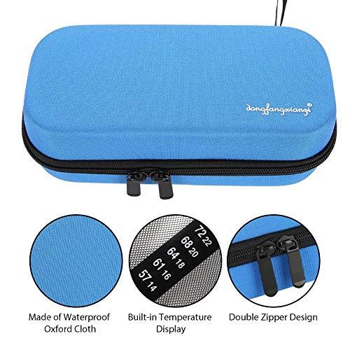 EVA Diabetico Custodia di Raffreddamento per Insulina Display della Temperatura, Insulina Organizzatore Borsa Protettiva per Raffreddamento Borsa Termica per Viaggi All'aperto (Blue)
