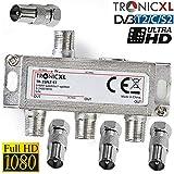 TronicXL Répartiteur 3 voies BK Câble Repartiteur d'antenne TV Antenne...