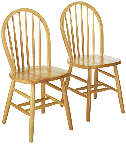 Winsome Windsor 2Pc Set RTA Chair, Natural