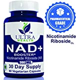 Nicotinamide Riboside - 300mg/Serving, NAD+ Booster, Ultra-High Purity Pharmaceutical Grade, nicotinamide riboside Chloride, Best NRCL Supplement, Same Ingredient as Tru Niagen and Elysium Basis NR